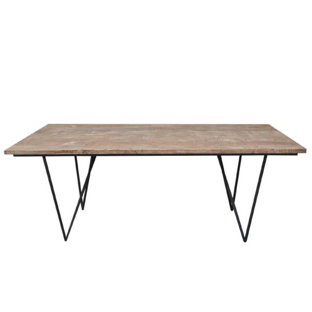 HELLIN TABLE A MANGER RECTANGULAIRE BOIS/METAL