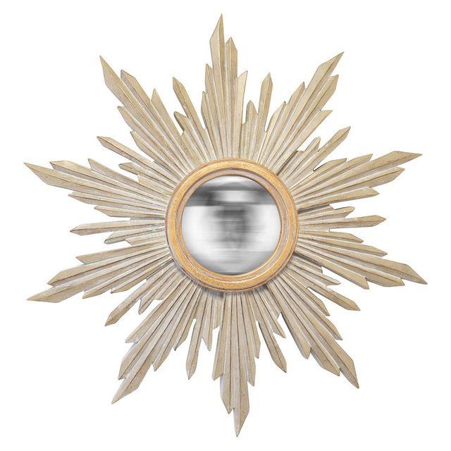 Emde Miroir soleil en résine taupe et or D.41cm Soa