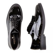 Noir Patte Bela 7148 Derbies Chaussures Cuir MexicVernis 2HEDI9