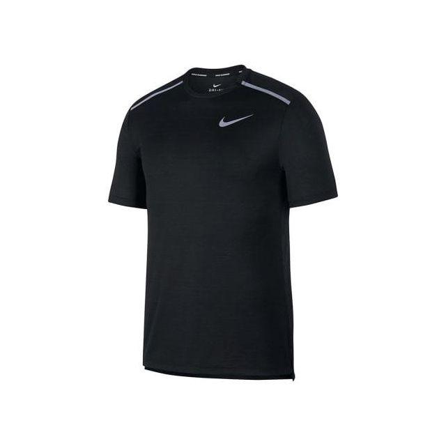 T shirt Dri Fit Miler manche courte noir blanc