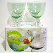 Coupes à Pied verre bullé x 4 Paradise vert