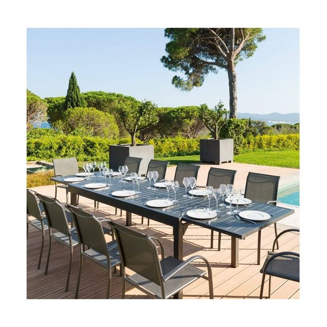 HESPERIDE - Table rectangulaire extensible Piazza 12 personnes ...