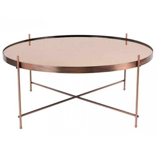 Inside 75 Zuiver Table basse Cupid en cuivre 82.5 x 35 cm
