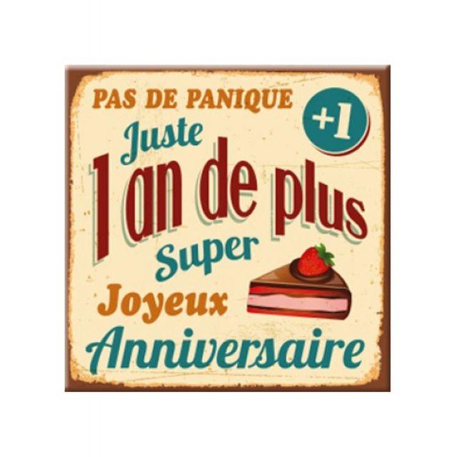 Marque Generique Plaque Message Anniversaire 1 An De Pas Cher