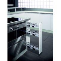 Kessebohmer - Element Coulissant Deux Niveaux Pour Meuble D'ANGLE Bas De Cuisine A 90 Degres De 150 Mm - Haut. int armoire mm:755 - Nb de niveaux:3
