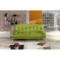 Chloe Design - Canapé convertible en tissu Nasro - jaune