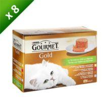 Gourmet - Gold Les Terrines aux Légumes Multivariétés - 12 x 85 g x8 Pour chat adulte