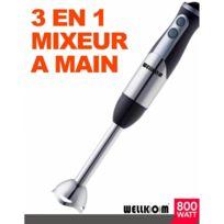 Wellkom - Mixeur Plongeant 800W 3 en 1
