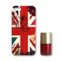 Accessorize - Coque Uk fleurs avec vernis assorti pour Apple iPhone 5/5S