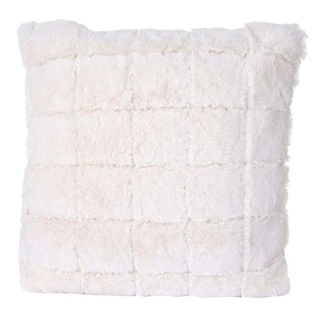 decoshop26 coussin imitation fourrure blanc 45x45 cm d houssable dec04078 1cm x 1cm pas cher. Black Bedroom Furniture Sets. Home Design Ideas