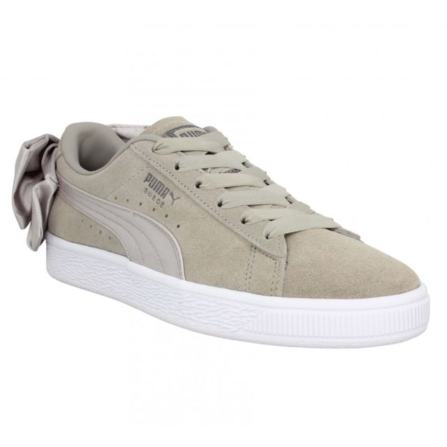 Puma Suede Bow velours Femme 37 Taupe pas cher Achat