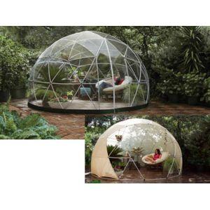 GARDEN IGLOO - Abri de jardin Hiver + couverture été - 10 m² - pas ...