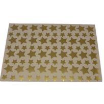 Majuscule - gommettes étoiles or métalisées - pochette de 672