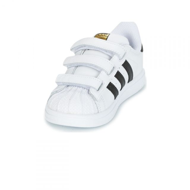 Adidas Chaussures Bebe Superstar Velcros BlancNoir h17