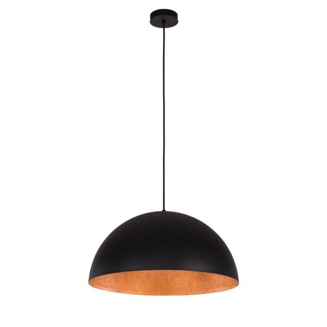 Paris Prix Lampe Suspension Design Tuba 35cm Noir Cuivre Pas