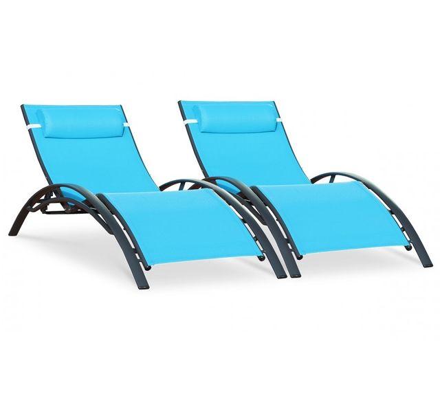 lot de chaises longues