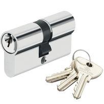 Bricard - Cylindre de sécurité pour porte barillet 40x30 mm Alpha 3 clés