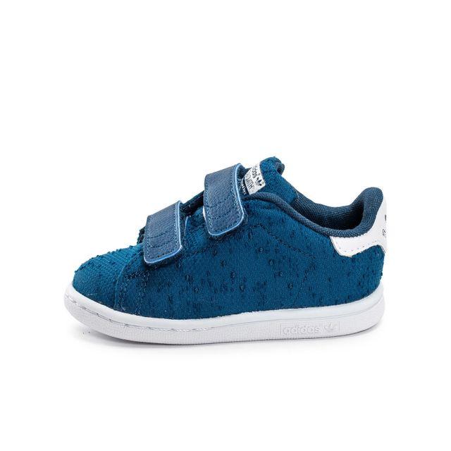 e1468f6cfe78f Adidas originals - Stan Smith Cf Textile Bébé Bleue - pas cher Achat ...