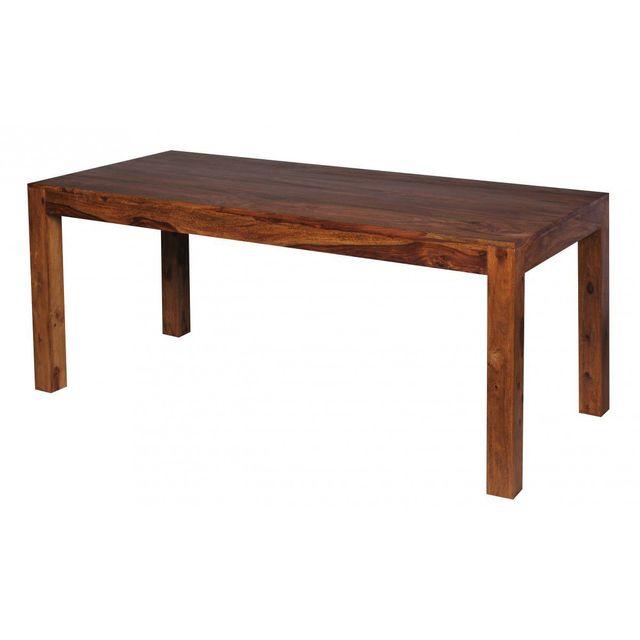 Comforium Table à manger 180 x 80 cm en bois massif coloris sheesham