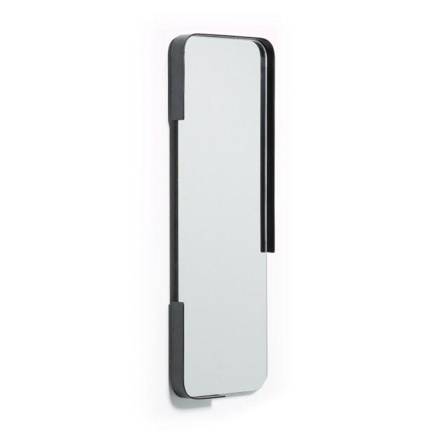 Ma Maison Mes Tendances Miroir 76x25 en fer noir Alec - L 25 x l 76 x H 4