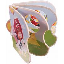 """Bieco - Le Livre D'IMAGES En Bois """"LA Ferme"""" Jouet En Bois, Multicolore"""