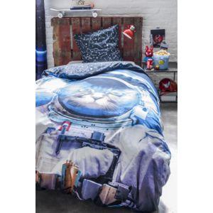 today parure de couette 100 polyester 140x200 astro cat bleu 140cm x 200cm pas cher achat. Black Bedroom Furniture Sets. Home Design Ideas