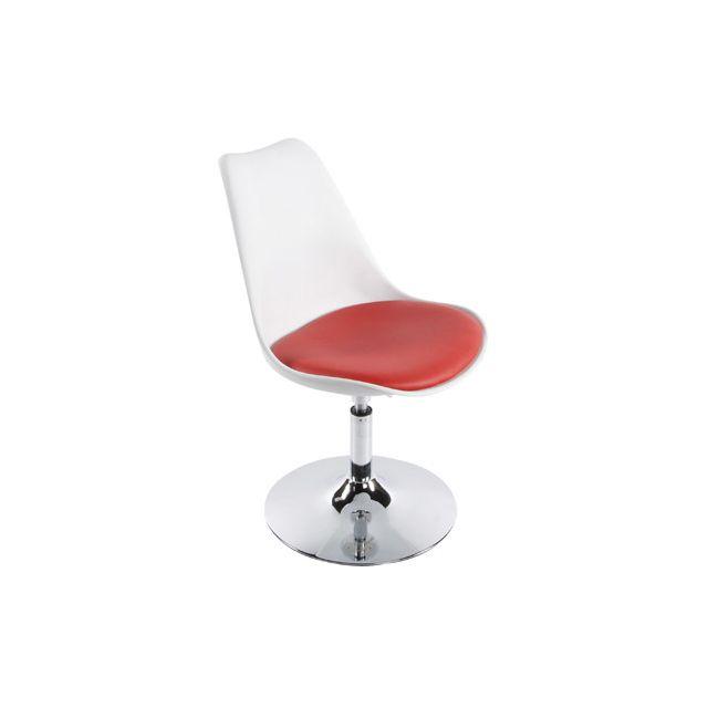 Chaise design 48x54x85cm Vic - rouge