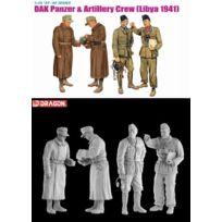 Dragon Models - 1/35 Dak Panzer And Artillery Crew, Libya 1941 4 Figures Set, JAPAN Import