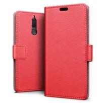 Lapinette - Etui Housse Portefeuille Pour Huawei Mate 10 Lite - Rouge