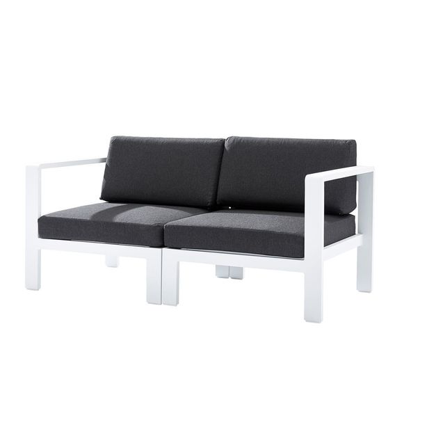 Sofa G/D Orlando Blanc En Aluminium Gris