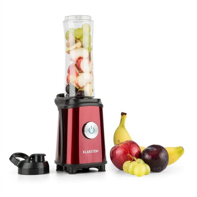 KLARSTEIN Tuttifrutti Mini-Mixeur 350 W 600 ml Lames inox Sans BPA - rouge