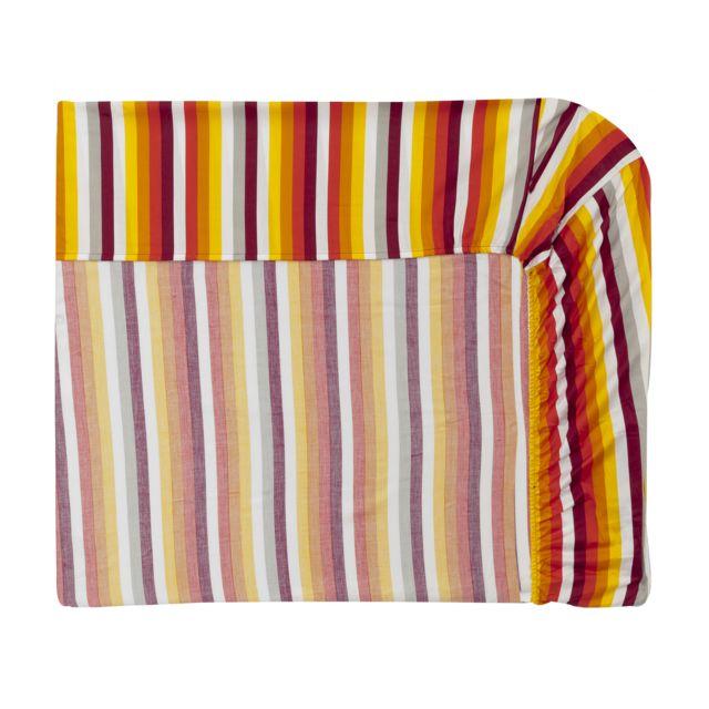 Essix Drap housse Destination Multicolore - 140 x 190 cm