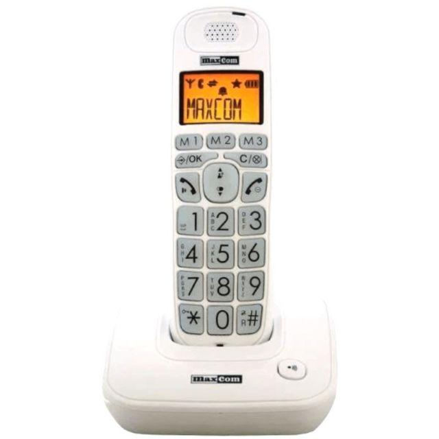 Téléphone Fixe Senior Mc6800 Blanc
