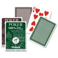 Piatnik - Jeu de cartes de Poker en plastique : Marron