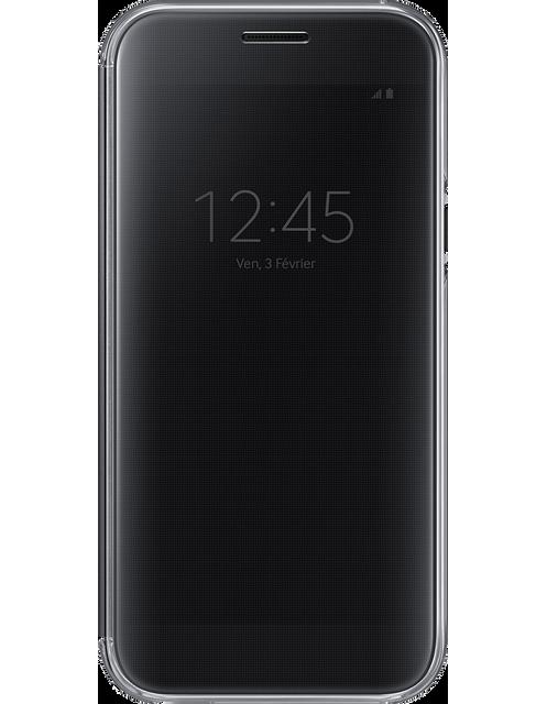 samsung clear view cover galaxy a5 2017 noir pas cher achat vente coque tui smartphone. Black Bedroom Furniture Sets. Home Design Ideas