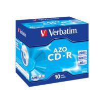 Verbatim - Azo Crystal - 10 x Cd-r - 700 Mo 52x - boîtier Cd