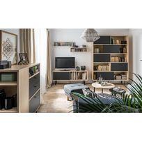 Vox - Meuble Tv Design Pied MÉTAL Noir 150 Cm - Frame