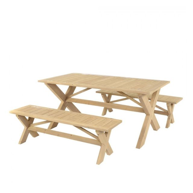 Jja Ensemble table + 2 bancs Malok