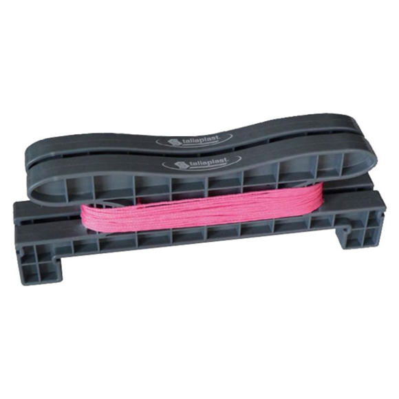 SOFOP TALIAPLAST - Enrouleur de cordeau LE KORDO 20 m de fil fluo rose diamètre 1,5 mm - 400441