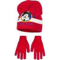 7f2d32f2fb0 Marque Generique - Bonnet Gants Mickey Mouse Rouge Taille 54 Disney enfant