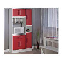 MARQUE GENERIQUE - Buffet de cuisine MADY - 5 portes & 1 tiroir - Coloris rouge