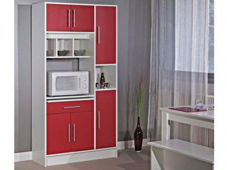 marque generique buffet de cuisine mady 5 portes 1 tiroir coloris rouge pas cher achat. Black Bedroom Furniture Sets. Home Design Ideas
