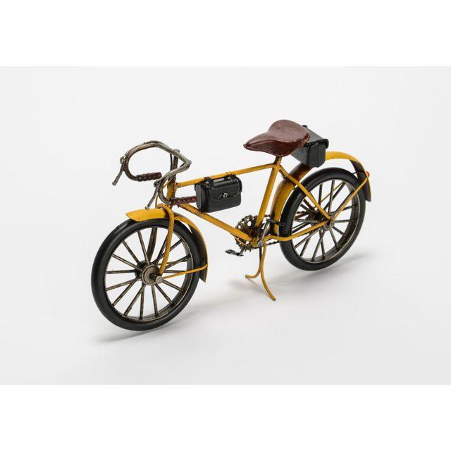 AMADEUS Cycle garçon vintage jaune en métal