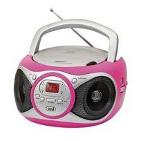 TREVI - CD 512 lecteur CD CD/CD-R/RW MP3-CD radio FM AUX rose