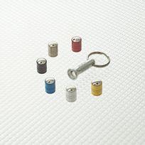 Richbrook - 3100.07 - Kit de 4 capuchons de valves antivol Spinning argent + 1 cle