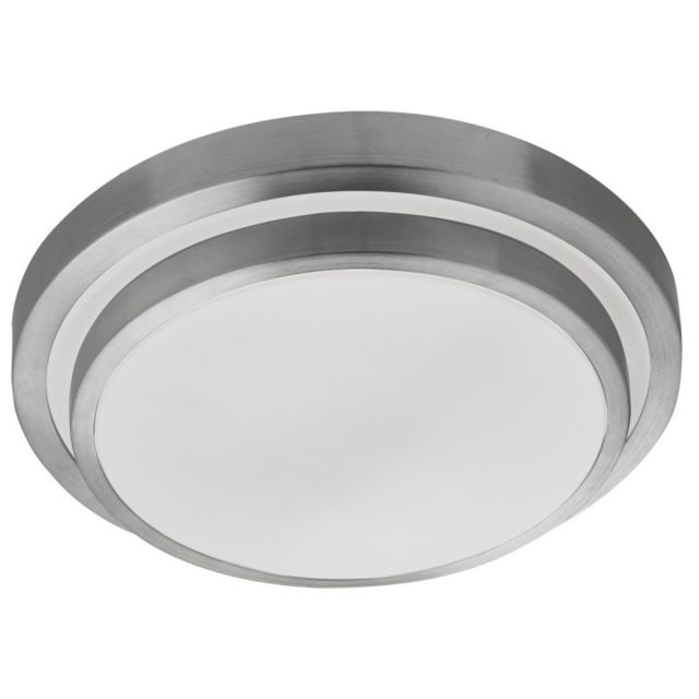 Searchlight Plafonnier Led blanc et aluminium brossé