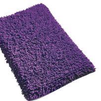 Linnea - Tapis de bain 50x80 cm Chenille Violet 1800 g/m2