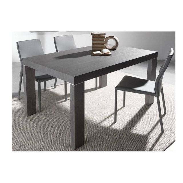 Inside 75 Table repas extensible Wind design wengé 140 cm