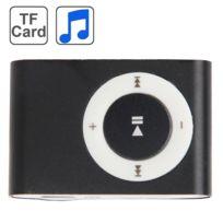 Wewoo - Lecteur Mp3 noir carte Tf Micro Sd Mp3 avec clip en métal
