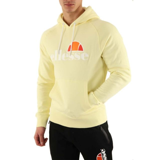 Ellesse Sweat Hoodie Uni Couleur Jaune, Taille Xs